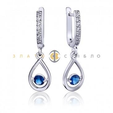 Срібні сережки «Лазур»