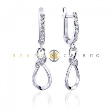 Серебряные серьги «Знак любви»