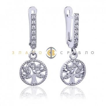 Серебряные серьги «Дерево счастья»