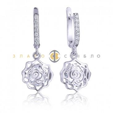 Серебряные серьги «Авеланж»