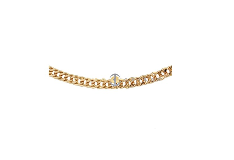 """Золотая цепочка """"Ромб двойной с алмазной гранью"""""""