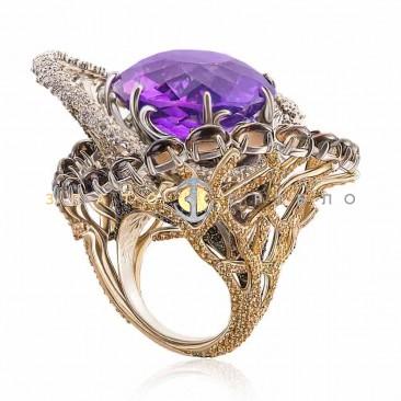Эксклюзивное золотое кольцо «Шторм»