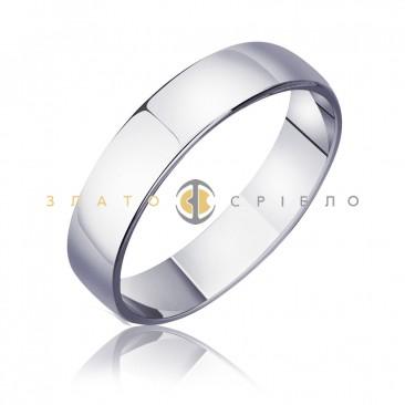 Обручка золота «Вірність» в білому золоті