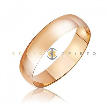 """Обручальное золотое кольцо """"Wedding"""""""