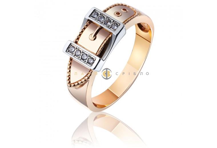 "Золотая печатка ""Belt"" с бриллиантами"