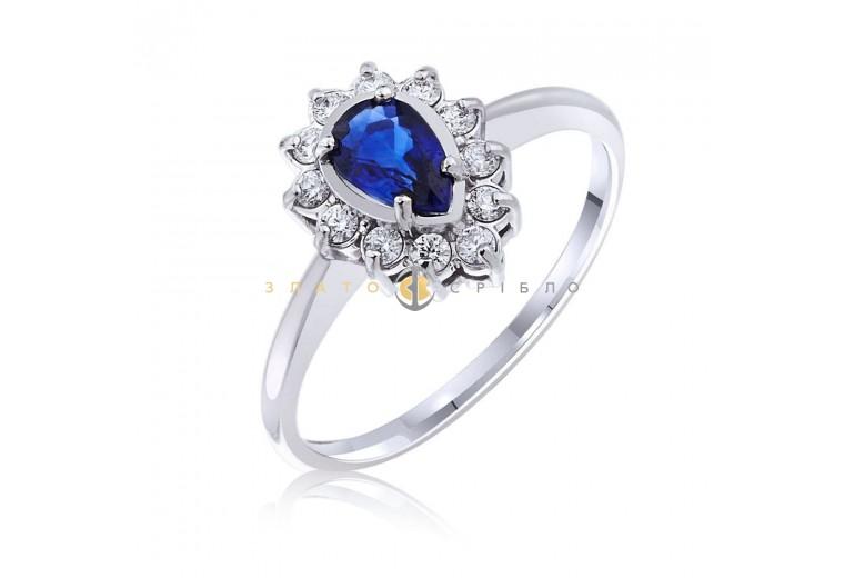 "Золотое кольцо ""Принцесса Жасмин"" с сапфирами и бриллиантами"