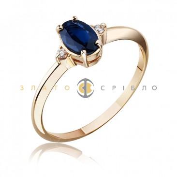 """Золотое кольцо """"Анастэйс """" с сапфиром и бриллиантами"""