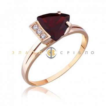 Золотое кольцо «Эльза» с гранатом