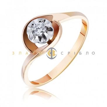 """Золотое кольцо """"Флоранс"""" с бриллиантом"""