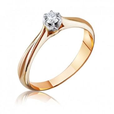 """Золотое кольцо """"Джулия"""" с бриллиантом"""
