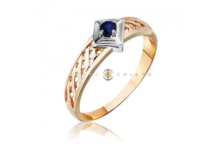 """Золотое кольцо """"Оливия"""" с сапфиром"""