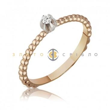 """Золотое кольцо """"Вивьен"""" с бриллиантом"""
