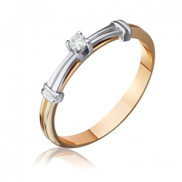 """Золотое кольцо """"Анабель"""" с бриллиантом"""