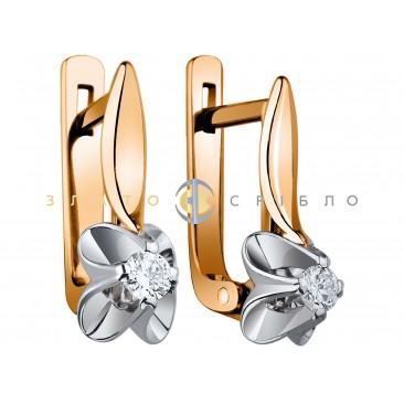 """Золотые серьги """"Classik"""" с бриллиантами"""